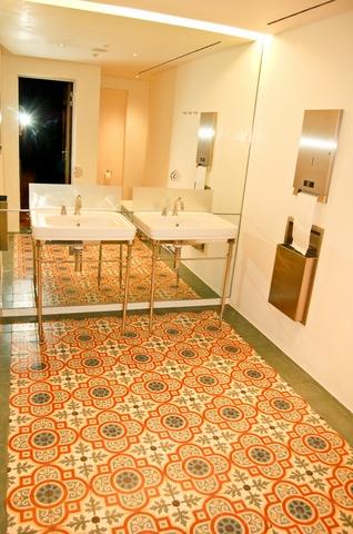 Zementfliesen in München (Gäste WC)